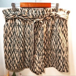 Sanctuary Brown-Black Patterned Shorts w/Sash